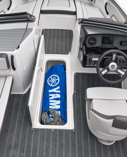 Yamaha Boats AR190 floor storage feature